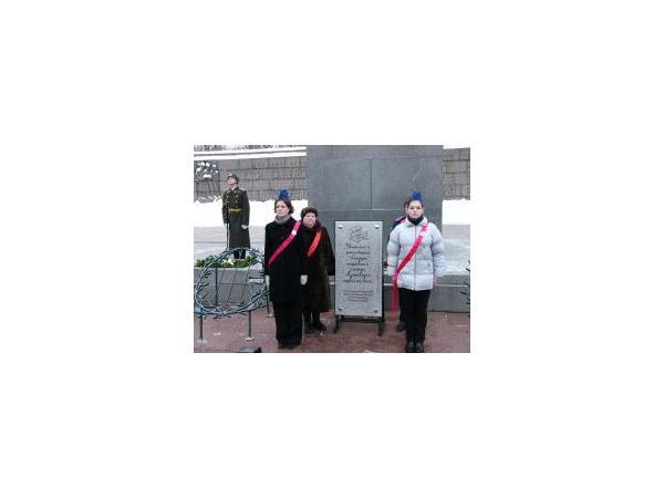 """""""Блокадная парта"""" на Пискаревском кладбище (фоторепортаж)"""