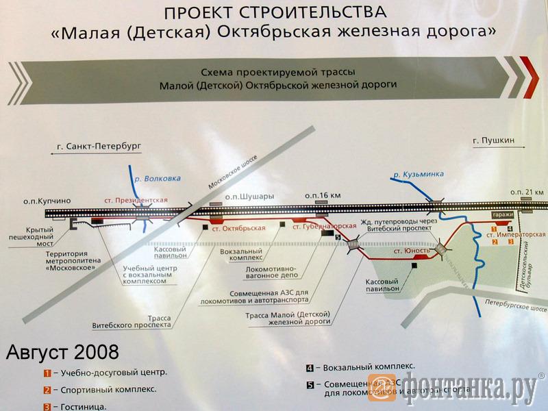 Старый проект Малой железной дороги