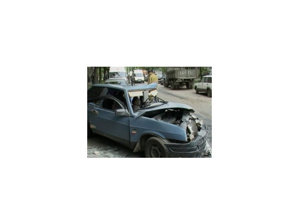 Авария с участием маршрутки на Брюсовской улице