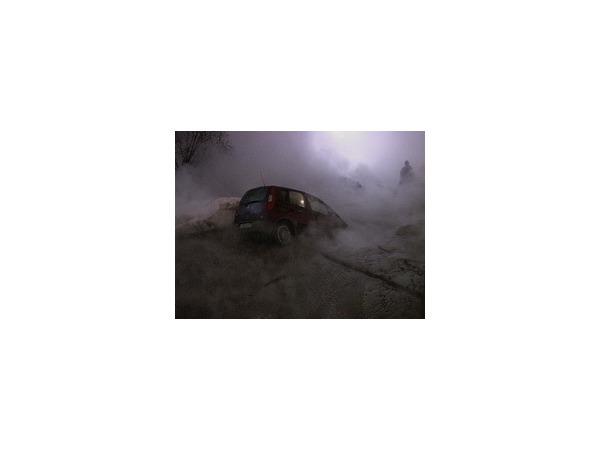 В озеро кипятка на Просвещения попала машина