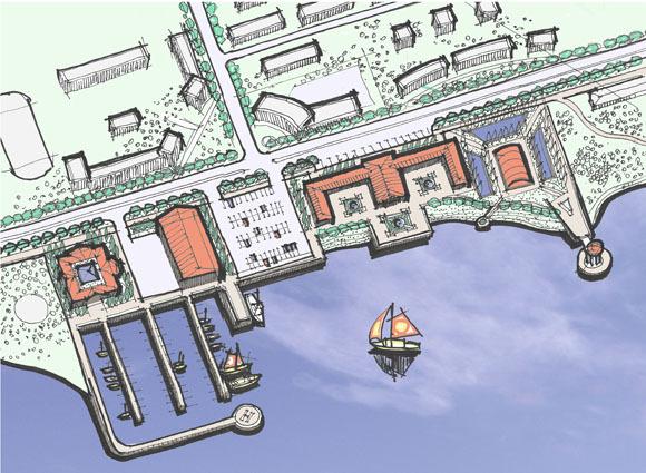 Проект строительства яхт-клуба в Петрозаводске на берегу Онежского озера