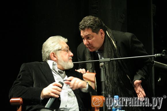 Во время Открытого урока, с художественным руководителем МДТ - Театра Европы Львом Додиным