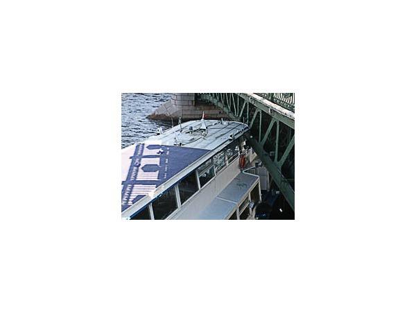 Пассажиры врезавшегося в мост теплохода доставлены на берег