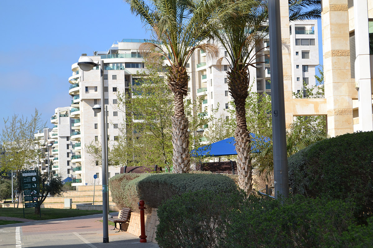квартал, построенный по технологии экостроительства, в Тель-Авиве