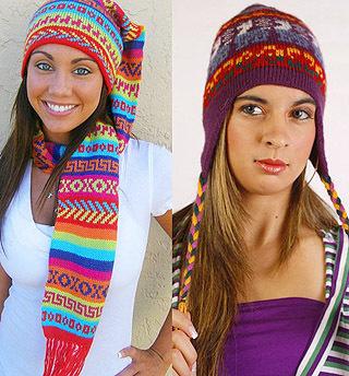 Перуанские шапки. kaboodle.com