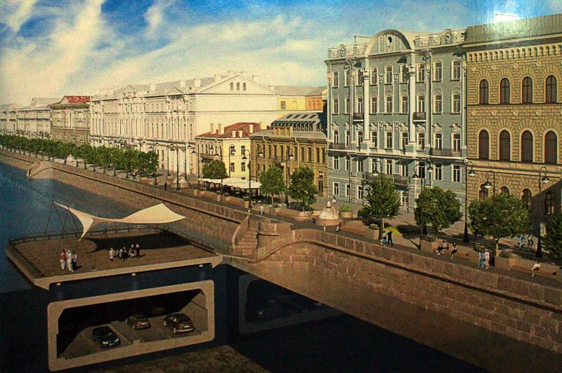 Дворцовая набережная. Проект мастерской Литвиновых.