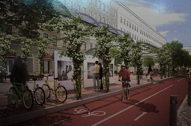 Велосипедное движение в районе Конюшенной площади, мастерская Литвиновых