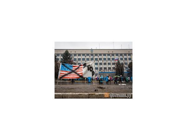 Возле захваченного здания СБУ в Луганске сохраняется спокойная обстановка