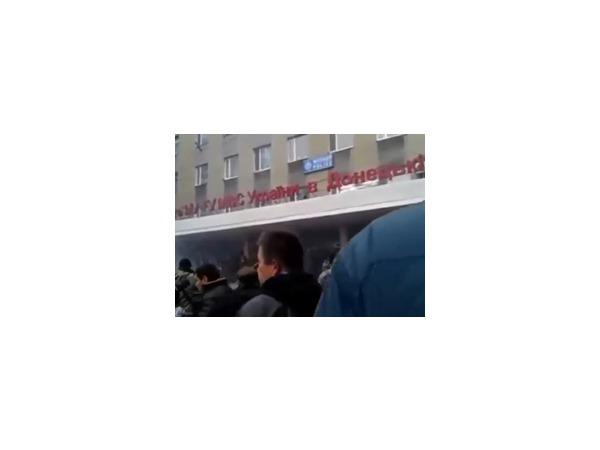 Сторонники федерализации контролируют административные здания в Горловке