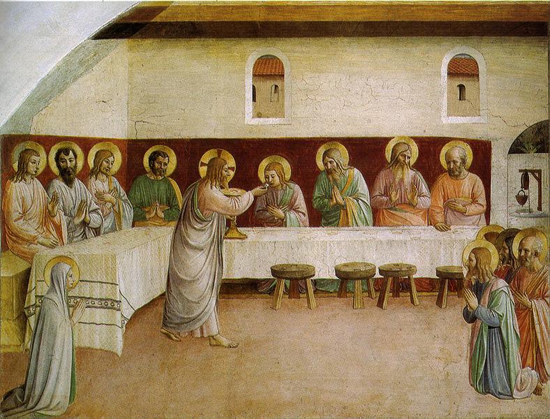 Фра Беато Анджелико. Тайная Вечеря. Источник: Wikipedia