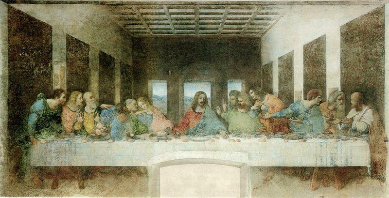 Леонардо да Винчи. Тайная вечеря. Источник: Wikipedia