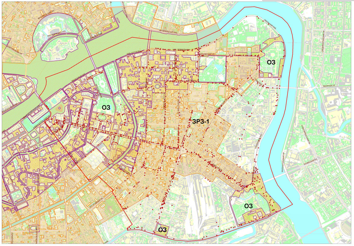 Схема размещения рекламных конструкций в Центральном районе