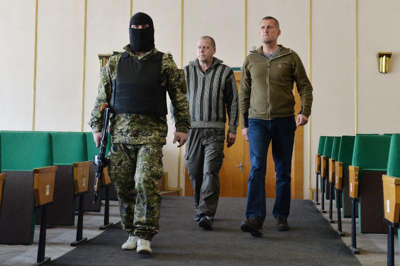 Задержанные наблюдатели ОБСЕ