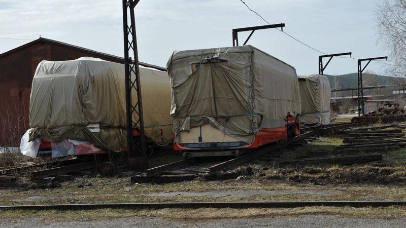 Зачехленные готовые вагоны