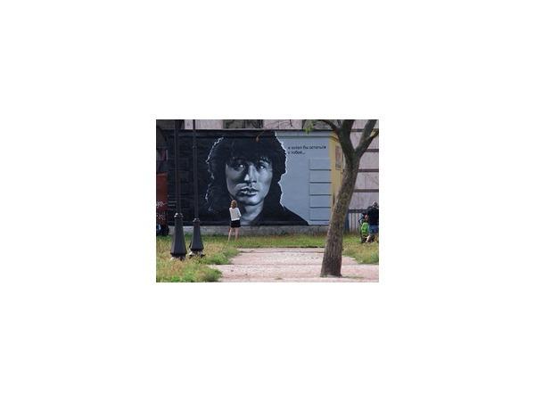 Полтавченко поручил сохранить портрет Цоя во дворе на улице Восстания