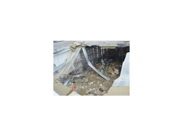 При строительстве кадетского корпуса в Севастополе обрушилась крыша