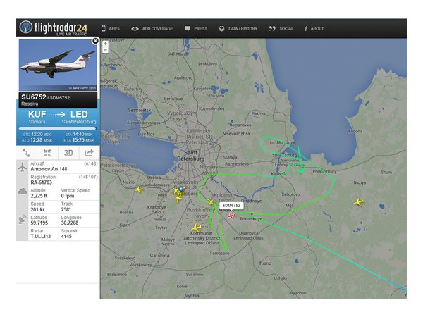 Рейс из Самары в Петербург уходил на второй круг из-за неисправных закрылков
