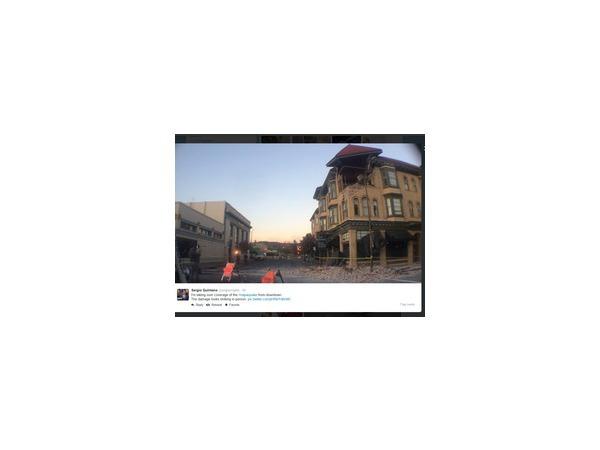 Город Напа в Калифорнии пострадал от мощного землетрясения