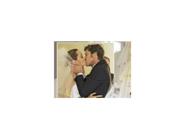 Появились первые фотографии со свадьбы Джоли и Питта