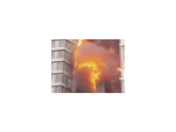 В Красноярске задержан предполагаемый виновник пожара в 25-этажном доме
