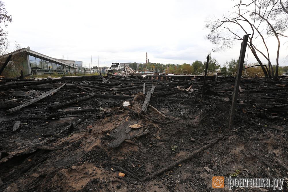 Последствия пожара 19 сентября