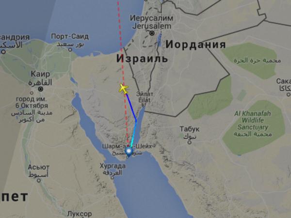 Самолет, летевший из Египта в Петербург, пропал с экранов радаров