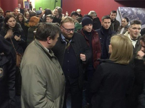 """Милонов явился на ЛГБТ-кинофестиваль """"Бок о бок"""""""