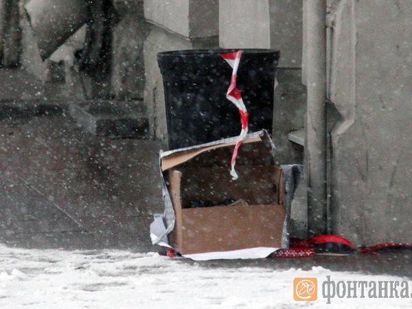 В коробке на Невском не нашлось ничего взрывоопасного