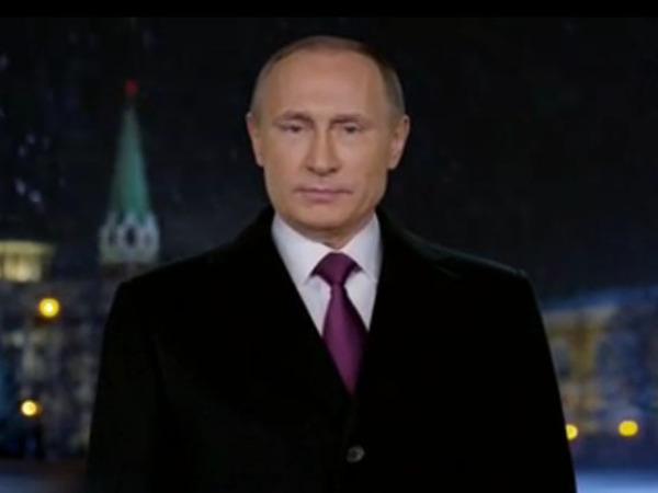 В новогоднем обращении Путин особо поздравил военнослужащих в Сирии