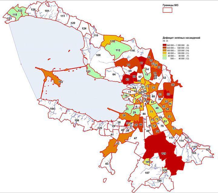 Дефицит зелёных насаждений (Фото: центр экспертиз ЭКОМ)