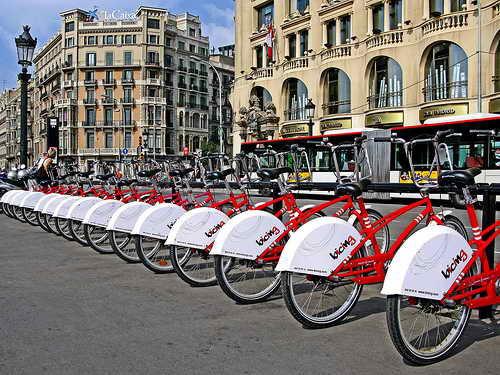 Велосипедная зона в Барселона