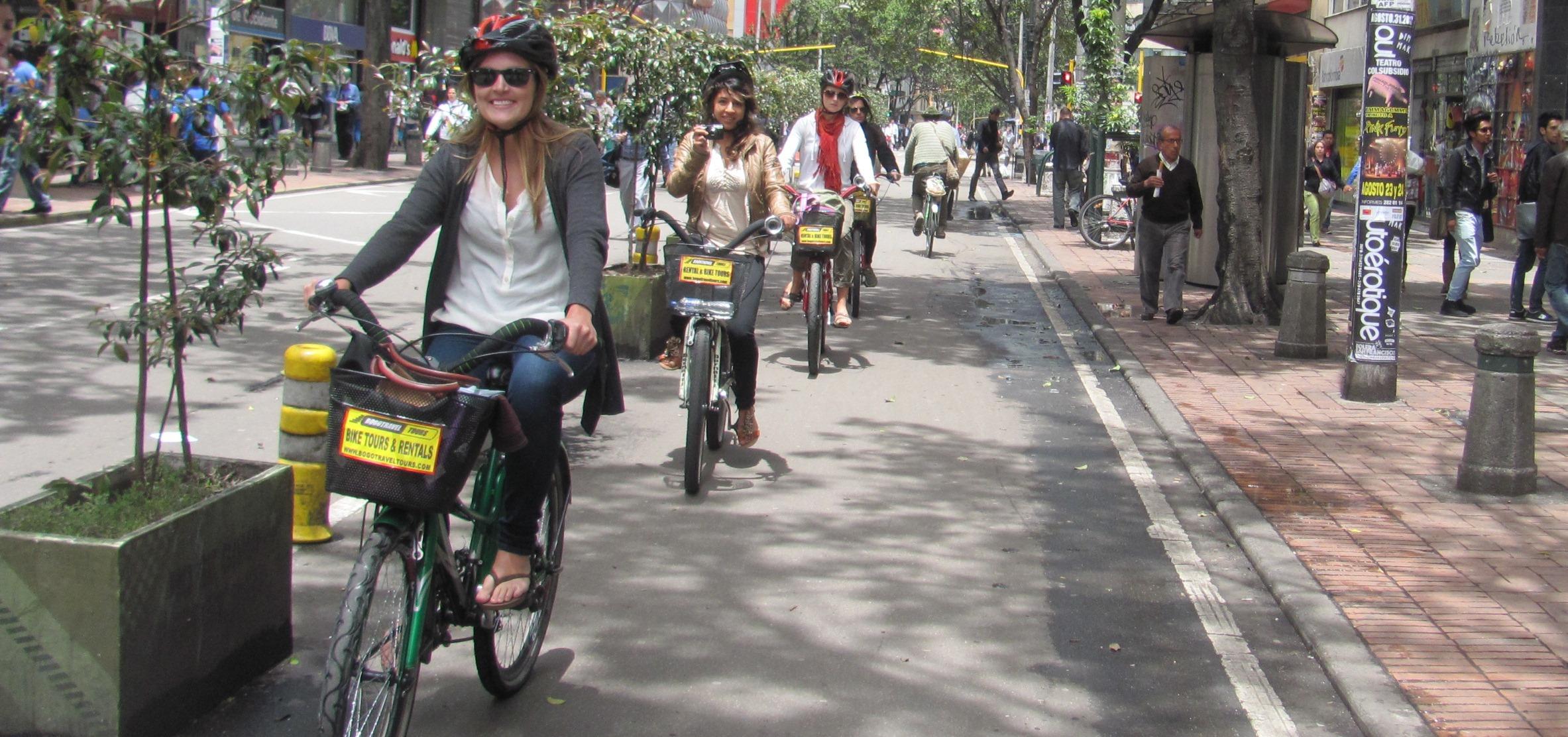 Велосепидисты в Боготе