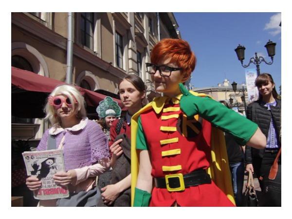 Парад литературных героев в Петербурге захватили персонажи комиксов
