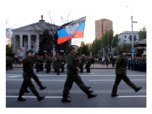 В Донецке прошла репетиция парада Победы