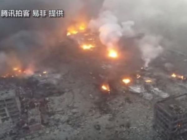 Число жертв взрывов в китайском Тяньцзине возросло до 50 человек