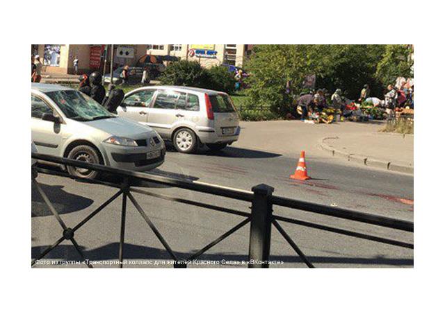 Очевидцы: в Красном Селе сбили двух пешеходов, одного медики не спасли