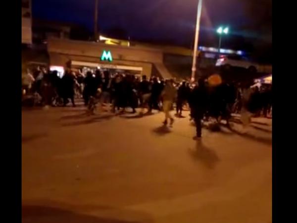 Причиной драки фанатов в Киеве стало сожжение украинского флага