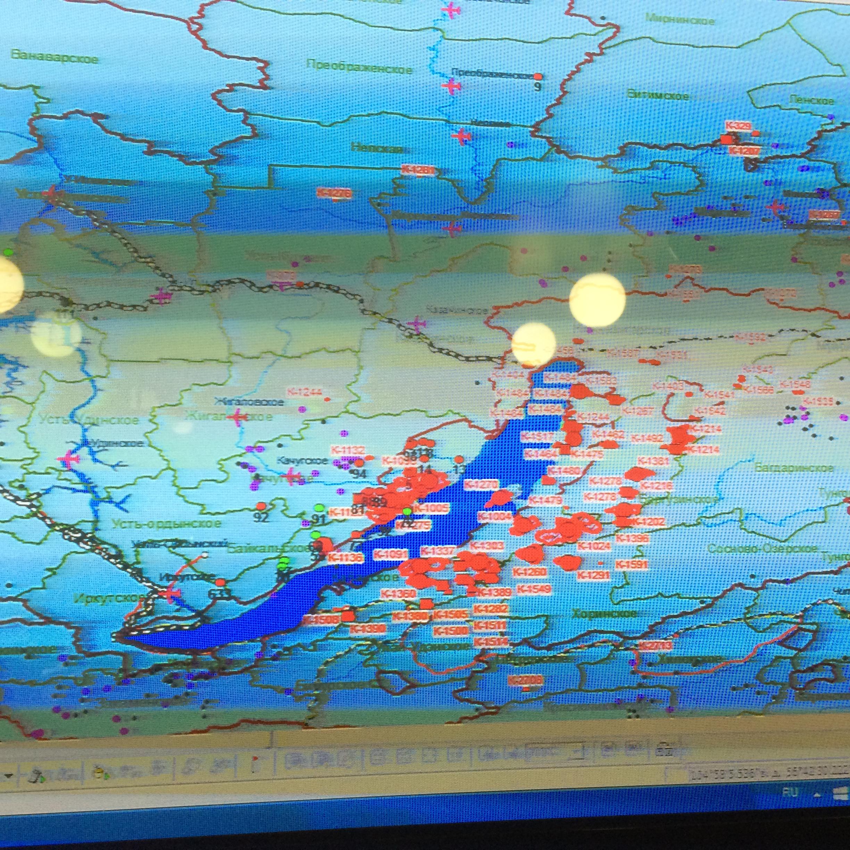 Данные о пожарах вокруг Байкала на 02.09.2015