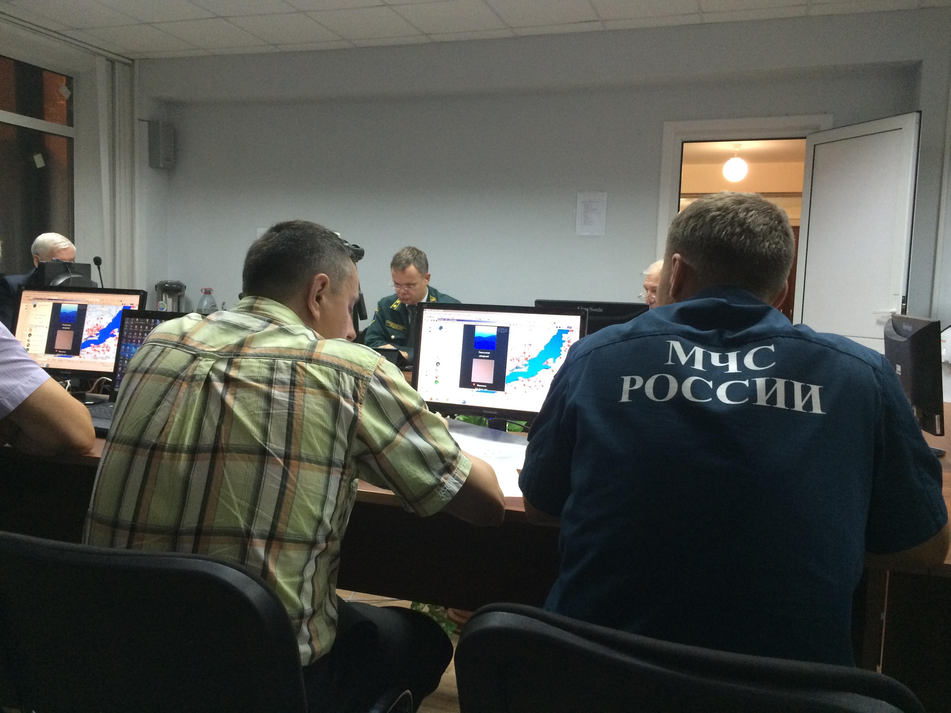 Заседание оперативного штаба по тушению пожаров