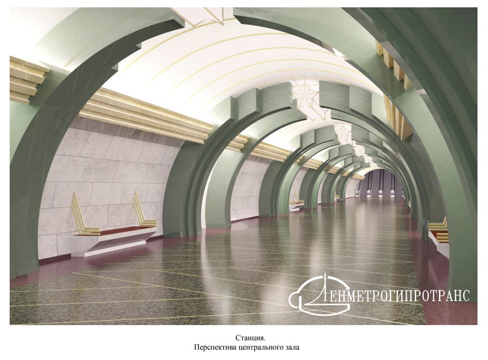 """Подземный вестибюль """"Юго-Западной"""""""