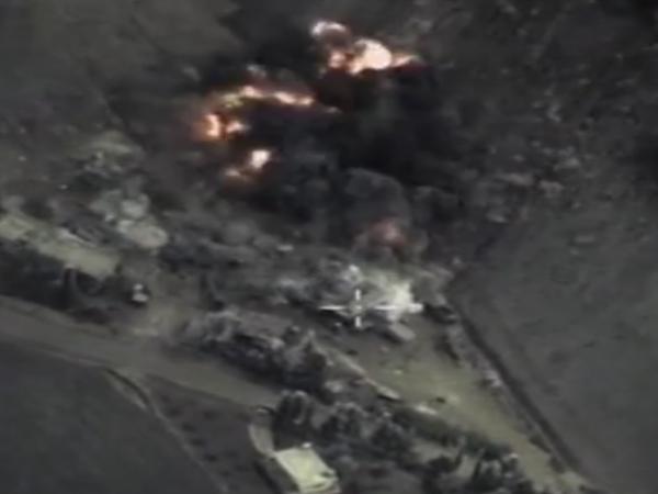 Минобороны РФ опубликовало видео авиаударов в Сирии
