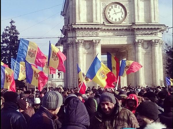 В Кишиневе проходит антиправительственный митинг