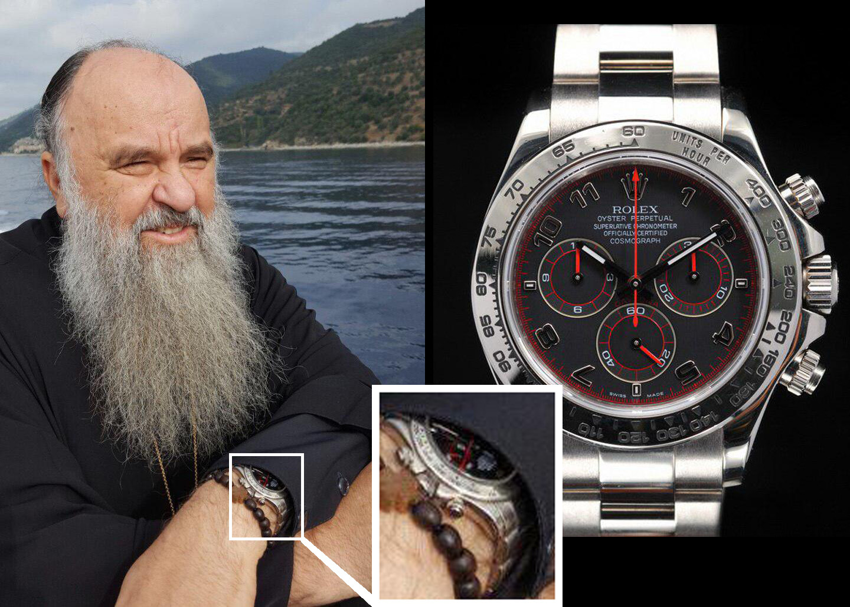 Митрополит Варсонофий и часы Rolex Daytona 116509 (Фото: Коллаж