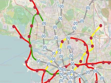 карта-схема метро спб 2020