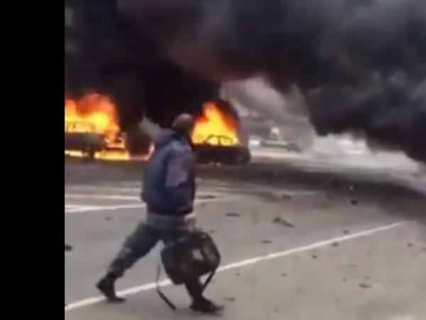 У поста ГАИ в Дагестане взорвалась машина: двое пострадавших