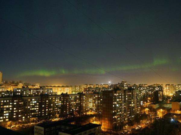 Северное сияние в Петербурге можно будет увидеть  в ближайшие ночи