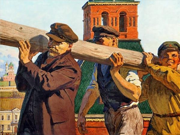 В. Иванов. В.И.Ленин на субботнике в Кремле