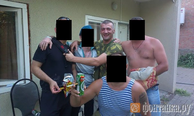 Давор Савичич с бойцами Вагнера