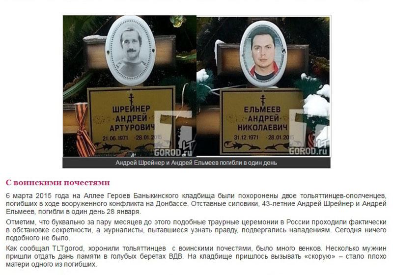 Могилы Шрейнера и Ельмеева