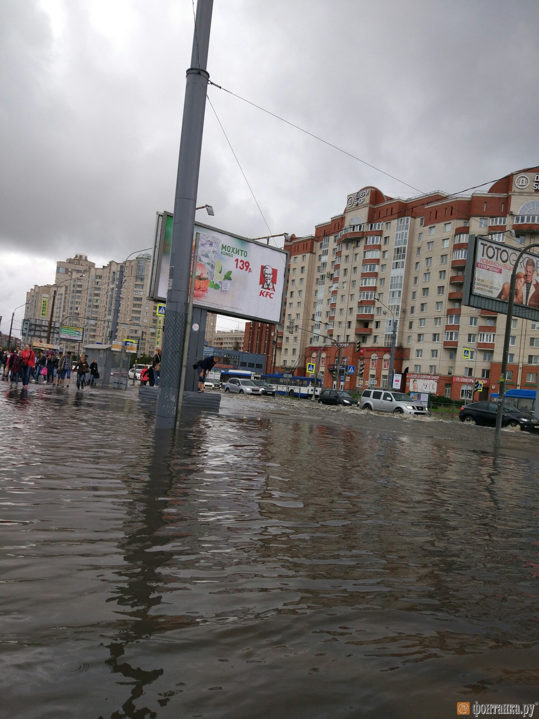 Пересение Ленинского проспекта и проспекта Стачек